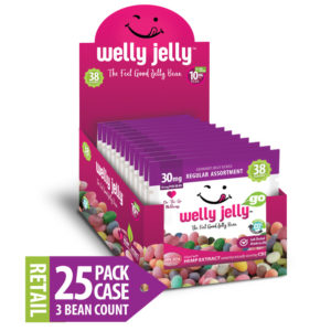 WELLY JELLY CBD INFUSED JELLY BEANS -- 25 - COUNT GO PACK CASE