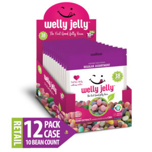 WELLY JELLY CBD INFUSED JELLY BEANS -- 12 - 10 COUNT PACK CASE