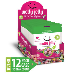 WELLY JELLY CBD INFUSED JELLY BEANS -- 12 - 10 COUNT SOUR PACK CASE
