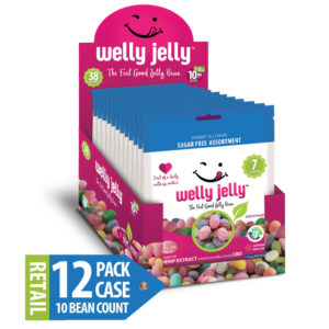 WELLY JELLY CBD INFUSED JELLY BEANS -- 12 - 10 COUNT SUGAR FREE PACK CASE