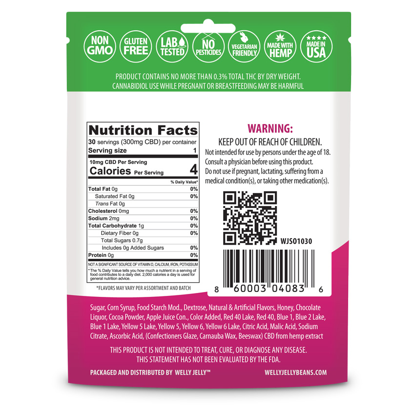 CBD Edible Welly Jelly Beans