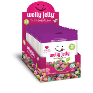 CBD INFUSED JELLY BEANS -- WELLY JELLY - 12 - PACK CASE REGULAR